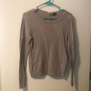 Tan sweater with buttons down back from h&m